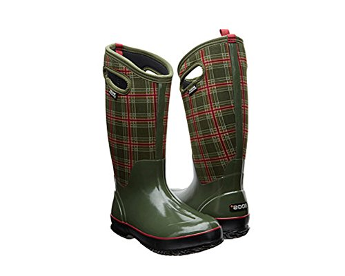 Bogs Women's Classic Tall Winter Plaid Waterproof Insulated