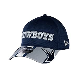New Era Mens Dallas Cowboys Helmet Hit Visor 39THIRTY Navy by New Era