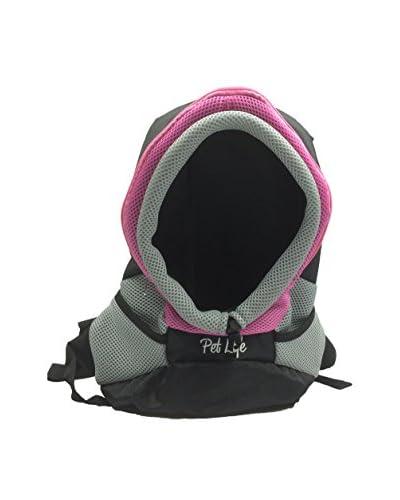 Pet Life Bark-Pack On-The-Go Supreme Travel Backpack Pet Carrier, Pink, Medium