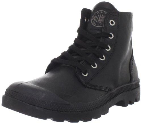 PalladiumPampa Hi Leather - Sneaker alta Uomo , Nero (Nero (Black 001)), 44.5