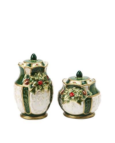 Cosmos Emerald Holiday Holly Salt & Pepper Set