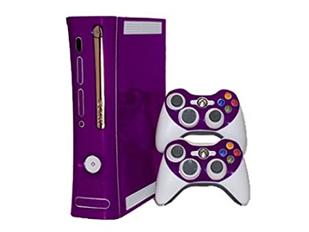 Xbox 360 Skin - NEW - POPPIN PURPLE system skins faceplate decal mod