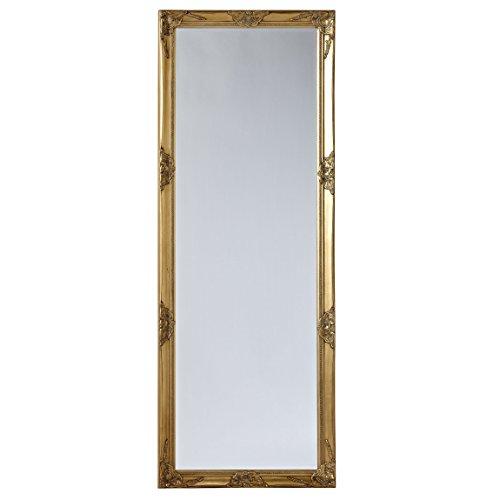Wandspiegel-Spiegel-gold-185-x-70cm-Antik-Stil-barock-m-Facettenschliff