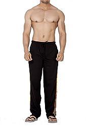 Clifton Mens Classical Striper Track Pant - Black/Rust (XXX-Large)