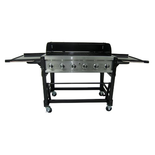 master forge 6 burner stainless steel gas