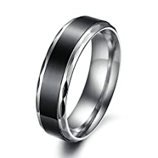 buy Bishilin Mens Women 6Mm Silver Black Stainless Steel Couples Engagement Rings Size 9