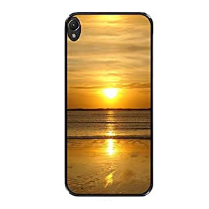Vibhar printed case back cover for Lenovo K3 Note BeachGoldSu