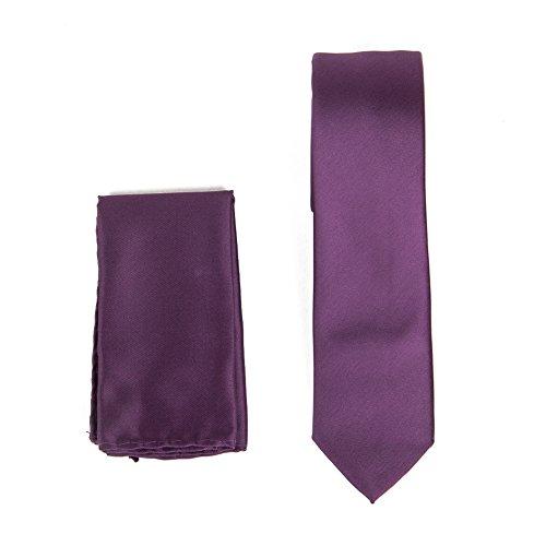brand q mens narrow width quot tie with hanky solid