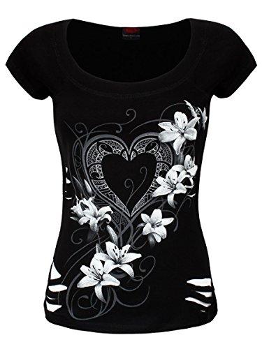 Spiral -  T-shirt - Donna Bianco & Nero X-Large