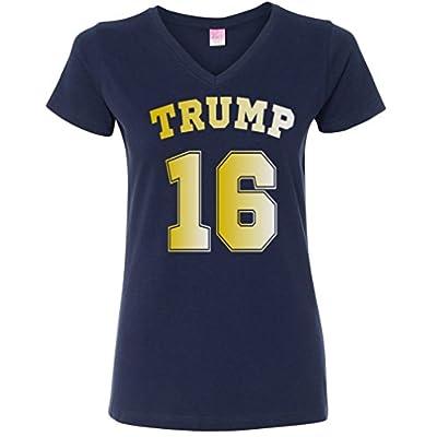 Ladies V-Neck: Trump 16 T-Shirt