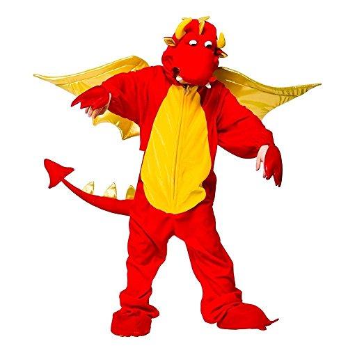 Fire Breathing Dragon - Kids Costume Animal Fancy Dress XXL - 11-13 YEARS / 130CM