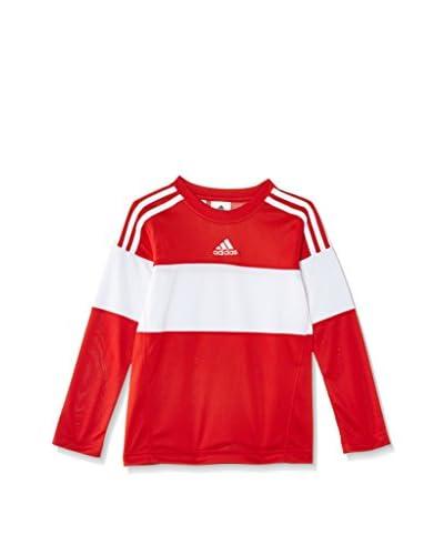 adidas Camiseta Manga Larga Command Shoot Rojo / Blanco