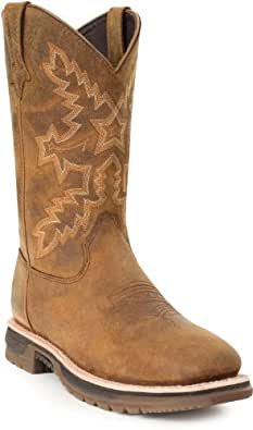 "Rocky Women's 11"" Square Toe Waterproof Boots,Brown,6 M"