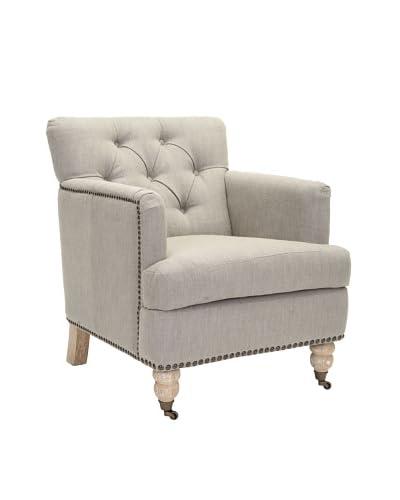 Safavieh Colin Tufted Club Chair, Brown/Cream Tweed