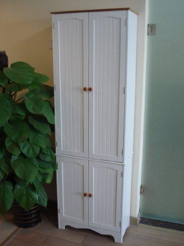 Homecharm-Intl 23.8x11.8x 72.2-Inch Storage Cabinet,White(HC-004) (Kitchen Cupboards compare prices)