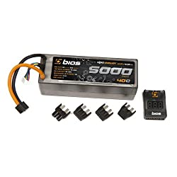 Bias 40C 4S 5000mAh 14.8V LiPO Battery Hard Case RC Traxxas Deans EC3 Tamiya