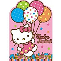 Amscan Hello Kitty Balloon Dreams Die-Cut Invitations, 8-Count from Amscan