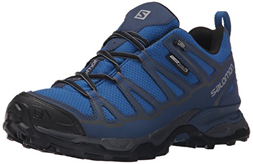 Salomon Men's X Ultra Prime CS WP Hiking Shoe, Deep Water/Slate Blue/Dark Cloud, 11 D US