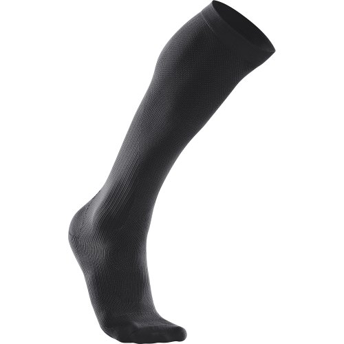 2Xu Men'S Performance Compression Run Sock, Black/Black, Medium