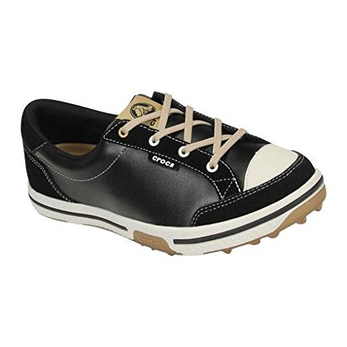 crocs Women's 15371 Bradyn2 Golf Shoe,Black/Gold,7.5 M US