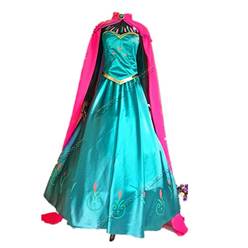 Starkma 2015 Elsa Princess Cosplay Dress Halloween Party Costumes for Adult
