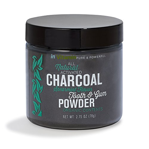 Natural Whitening Tooth & Gum Powder with Activated Charcoal (2.75 oz Spearmint) (Natural Whitening compare prices)