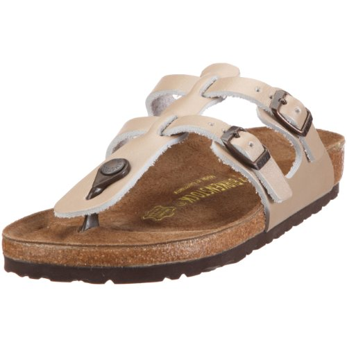 Birkenstock Sparta Smooth Leather, Style-No. 58153, Women Thong Sandals, Champagne, EU 36, slim width