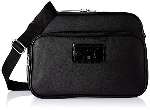 PUMA - Borsa a tracolla, modello Originals Reporter, Unisex, Umhängetasche Originals Reporter, Puma Black, 22.3 x 14.5 x 25 cm, 10.5 liter