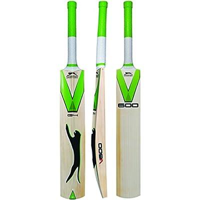 Slazenger V-600 G4 English Willow Cricket Bat, Short Handle