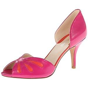 Nine West Women's Orlega Dress Pump,Pink/Orange Leather,8 M US