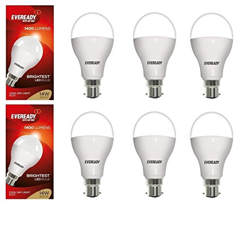 14W LED Bulbs (White, Pack of 6)
