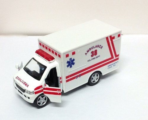 Die Cast Ambulance Rescue Team Truck W/ Open Doors by KinsFun
