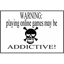 COMPUTER MOUSEPAD WARNING PLAYING ONLINE GAMES MAY BE ADDICTIVE!