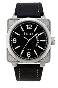 925021fc1f2 Buy French Connection Men's Quartz Watch Black Dial Analogue Display and  Black Leather Strap FC1066SBW from