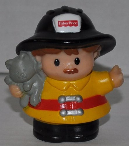Little People Firefighter Fireman(2002) - Replacement Figure Accessory - Classic Fisher Price Collectible Figures - Loose Out Of Package & Print (OOP) - Zoo Circus Ark Pet Castle - 1