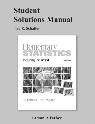 Student Solutions Manual for Elementary Statistics:...