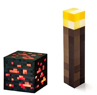 Minecraft Light Up Torch And Redstone Ore Set Of 2 from Thinkgeek