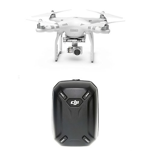 DJI Drone Phantom 3 Advanced con Videocamera 12 MP/2,7K + DJI Hardshell Backpack compatibile con DJI Phantom 3 Advanced e Professional, Nero