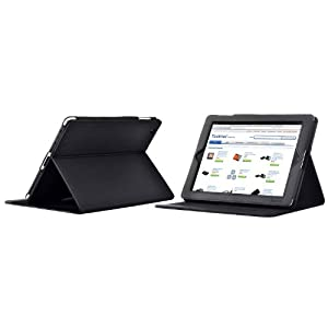 TeckNet® iPad 2 Multi-Function Premium Folio Case / Cover / Stand / Flip Case For New Apple iPad 2, With Magnetic Sleep Wake Sensor Feature - Black