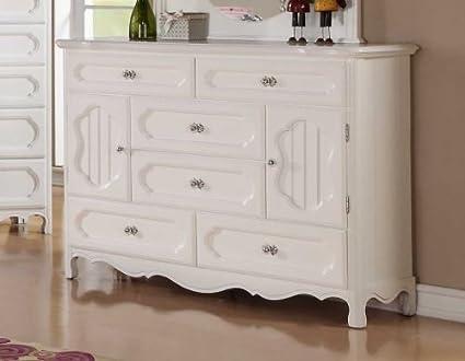 Homelegance Hayley 6 Drawer Kids' Dresser in White