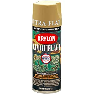 Krylon K04291000 Camouflage With Fusion For Plastic Paint Technology Aerosol Spray Paint, 11-Ounce, Camouflage Khaki