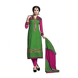 Meghali Women's Cotton Silk Zari Unstitched Suit (Tonika09_Multicolour_Free Size )