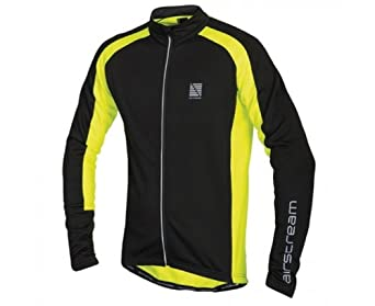 ALTURA Men's Airstream Long Sleeve Jersey 2014, Black/Yellow, S