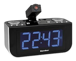 Karcher UR 1120 Uhrenradio mit Projektion schwarz