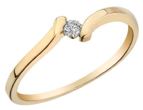 Diamond Promise Ring 1/10 Carat (ctw) in 10K Yelllow Gold