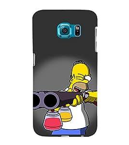 Vizagbeats Man aiming Color Gun Back Case Cover for Samsung Galaxy S6 Edge Plus