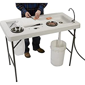 Portable Camp Fish Cleaning Table with Faucet - Deluxe by Forecome Co