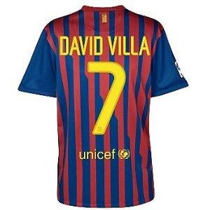 7 David Villa Barcelona Home 11 12 Soccer Jersey (US Size  M) Review 65557854d