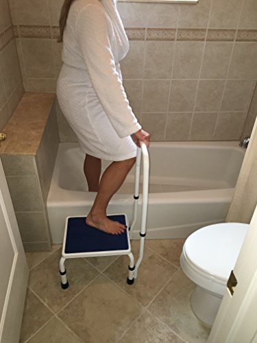 Adjustastep Tm Deluxe Step Stool Footstool With Handle