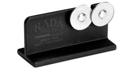 Buy Discount Rada Cutlery Quick Edge Knife Sharpener with Hardened Steel Wheels (Designed for Rada K...